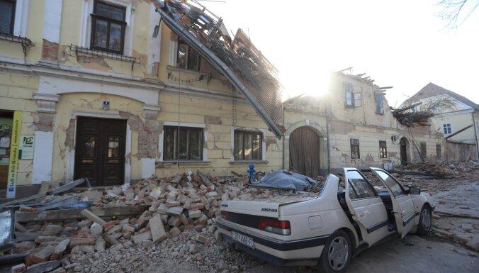 Foto: Horvātiju satricina 6,4 magnitūdas stipra zemestrīce; vismaz septiņi bojāgājušie