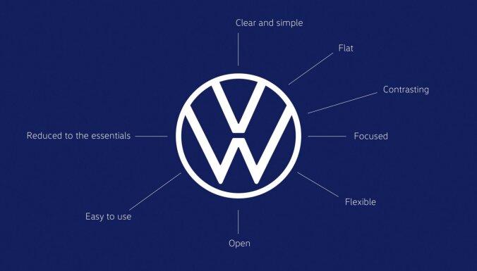 Vācu autoražotājs VW nomainījis savu logotipu