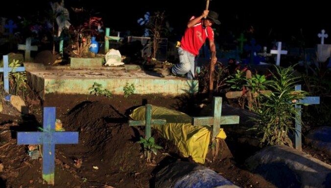 Salvadorā šogad reģistrē par 78% vairāk slepkavību nekā pērn