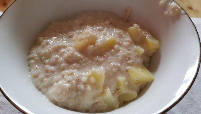 'Krupņiks ar guļbim' – miežu putra ar pienu un kartupeļiem Latgales gaumē