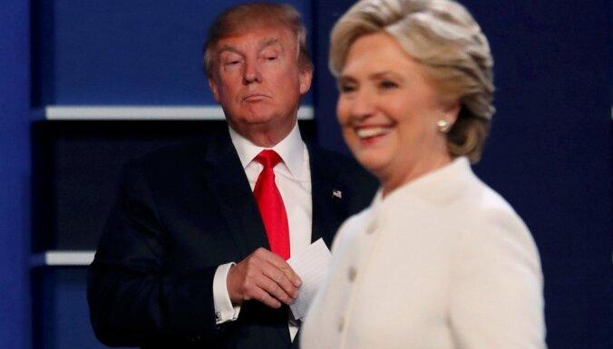 Pēc vidustermiņa vēlēšanām Tramps varētu kļūt vēl nevaldāmāks, uztraucas Klintone