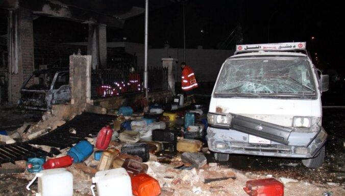 Bumbas sprādzienā Damaskā 11 bojāgājušie