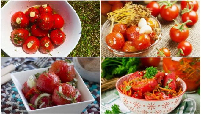 Tomāti – mazsālīti, ķiplokoti un korejiešu gaumē: 4 kārdinošas receptes ātrai noēšanai