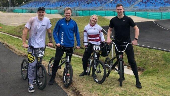 Latvijas vadošie BMX braucēji Kolumbijā gatavojas svarīgajam sezonas startam
