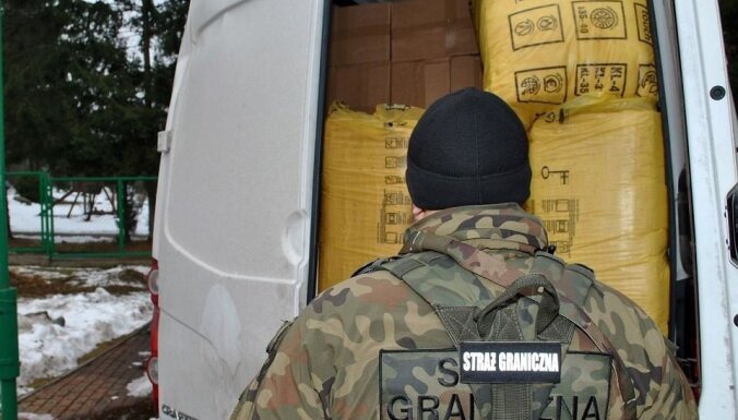 Польша: гражданин Латвии попался на перевозке крупной партии контрабанды