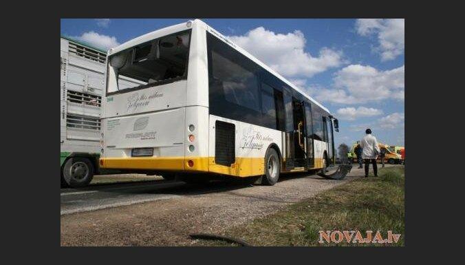 В автобус с детьми врезался лесовоз: школьники доставлены в больницу