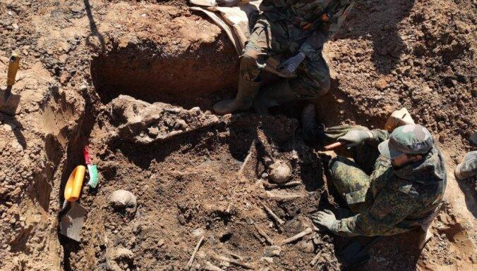 Во время строительных работ в Резекне найдены останки военнопленных