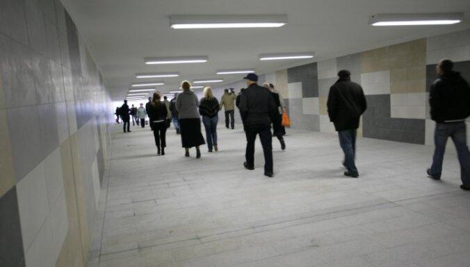 В Риге почти за 600 000 евро обновят пешеходный туннель от рынка к Origo
