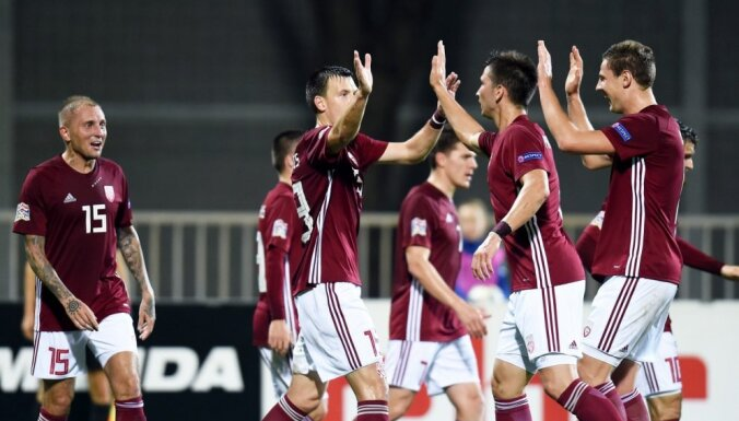 Latvijas futbola izlase šo gadu FIFA rangā noslēdz 132. vietā