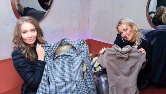 Anna Rozīte radījusi siltas kleitas ziemai