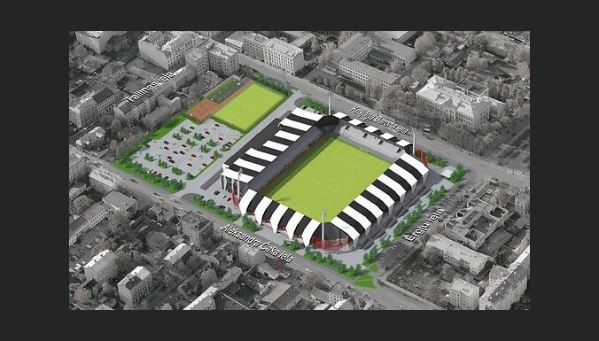 Стадион в Риге возведут по новому проекту; требуется найти 1,5 млн. евро