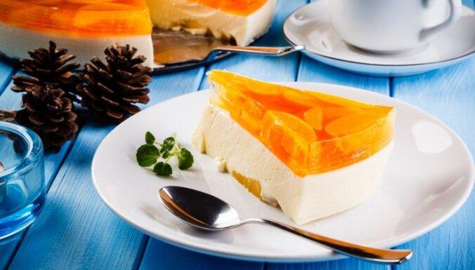 Biezpiena krēma un persiku torte 'Pūciņa'