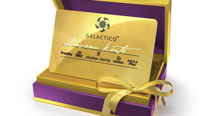 Klienti var atgūt Galactico Dāvanu kartēs neiztērēto naudu