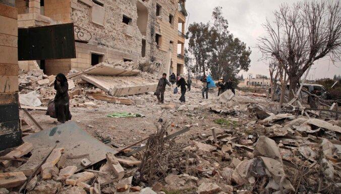 Krievijas uzlidojumā Sīrijā nogalināti pieci mierīgie iedzīvotāji