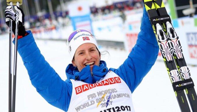 Bjergena izcīna savu sešpadsmito pasaules čempiones titulu distanču slēpošanā
