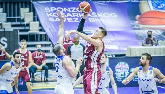 Сборная Латвии победила Грецию в отборочном матче на Евробаскет