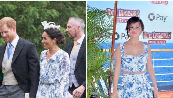 Foto: Gomesai filmas pirmizrādē līdzīga kleita kā Saseksas hercogienei