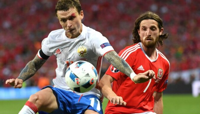 Russia Pavel Mamaev against Wales Joe Allen