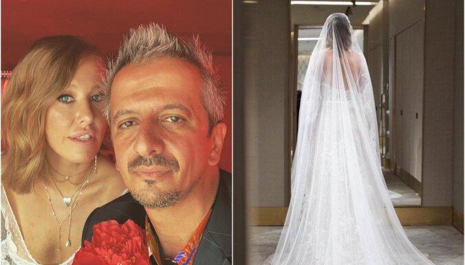 Ksenija Sobčaka otro reizi kļuvusi par precētu sievu