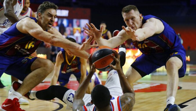 Šmits un 'Barcelona' piekāpjas Latiševa tiesātā Eirolīgas finālspēlē