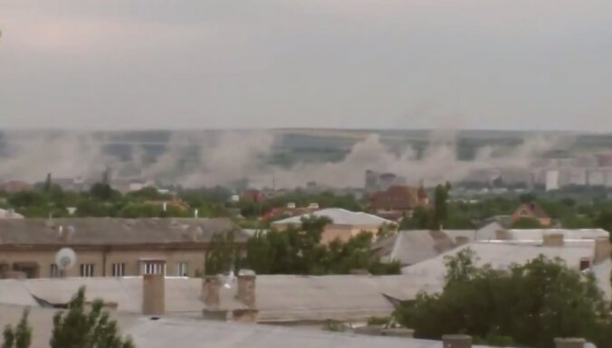 Video: Luhanskā ar 'Grad' apšaudīti dzīvojamie rajoni