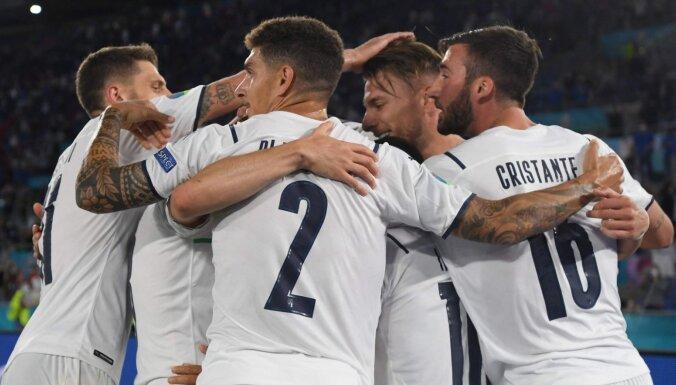 'Euro 2020' iesākas ar dominējošu Itālijas izlases sniegumu