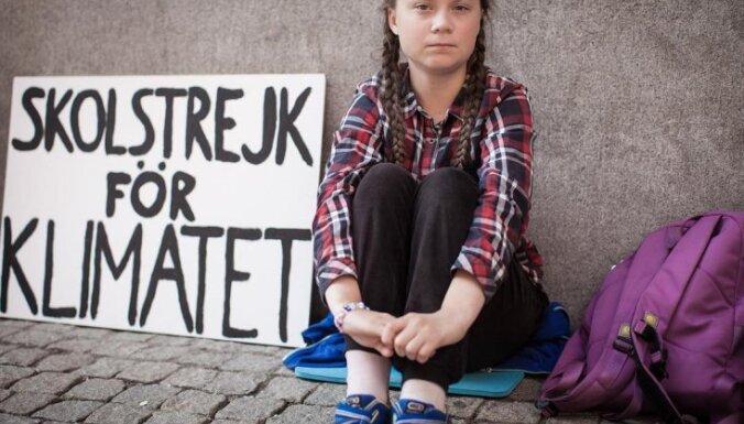 Nobela Miera prēmijai nominēta 16 gadus veca vides aktīviste