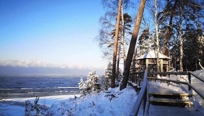 ФОТО. Зима на Белой дюне в Саулкрасты
