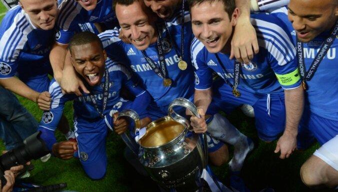 Londonas 'Chelsea' futbolisti pirmo reizi triumfē UEFA Čempionu līgas turnīrā