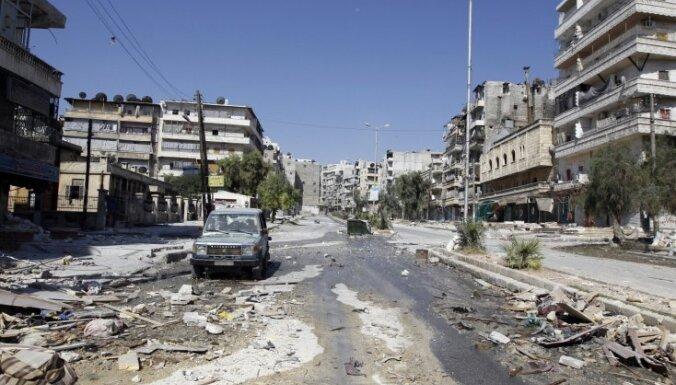 Bumbas sprādzienā Sīrijas pilsētā Alepo nogalināti 17 cilvēki