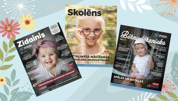 Vecāki aicināti bez maksas abonēt žurnālus 'Zīdainis', 'Bērnudārznieks' un 'Skolēns'