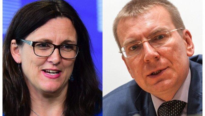 Sesīlija Malmstrēma, Edgars Rinkēvičs: Jaunas iespējas Latvijas un Eiropas ekonomikai