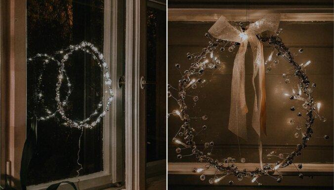 Dari pats: kā izveidot mirdzošu loga dekoru no lampiņām