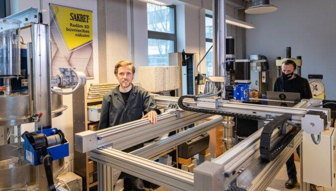 Izveido Baltijā pirmo 3D betona drukāšanas laboratoriju