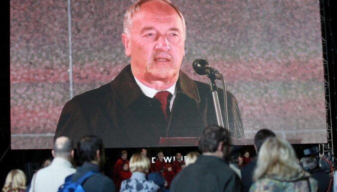 """Президент призвал латышей не быть """"народом без истории"""""""