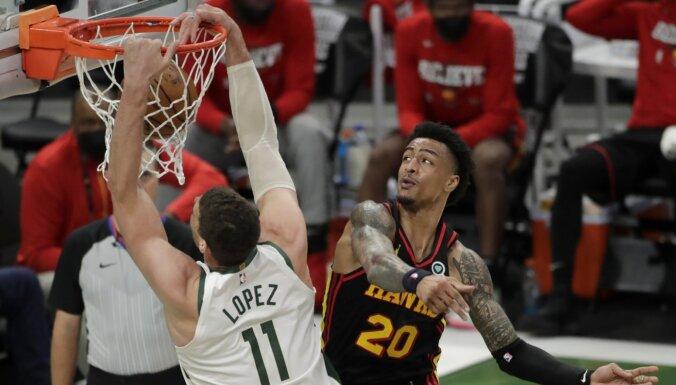 'Bucks' pamatsastāva iespaidīgais sniegums dod trešo uzvaru NBA pusfinālā
