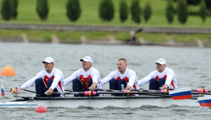 Russian national rowing: Nikita Morgachev, Artyom Kosov, Vladislav Ryabtsev, Sergei Fedorovtsev