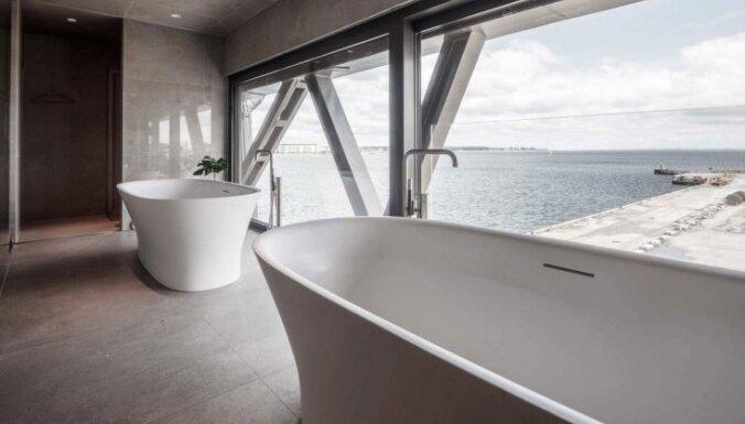 Foto: Kopenhāgenā iekārtota ekskluzīva viesnīca ceļamkrānā
