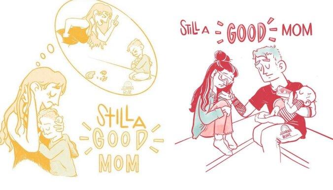 Joprojām laba mamma – māksliniece aicina atmest uzspiestās normas