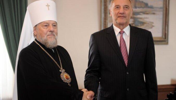 Metropolīts Aleksandrs novēl prezidentam Bērziņam būt labam saimniekam