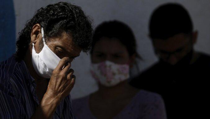 Covid-19: Brazīlijā piekto dienu pēc kārtas lielākais slimības upuru skaits