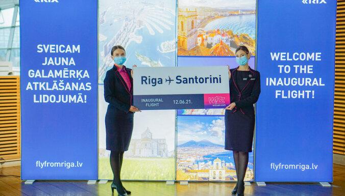 Wizz Air запустила маршрут Рига - Санторини