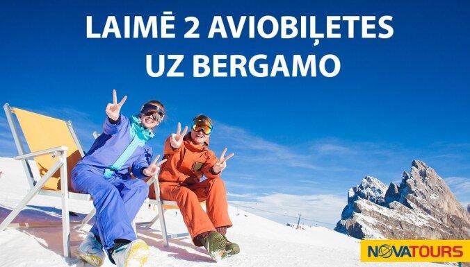 Noslēdzies konkurss par iespēju laimēt lidojuma biļetes uz Bergamo no Novatours