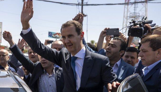 Bašars al Asads ar 95% balsu uzvarējis Sīrijas prezidenta vēlēšanās