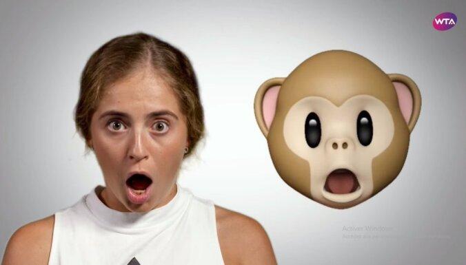 ВИДЕО: Алена Остапенко и другие звезды тенниса показали забавные пародии на эмодзи