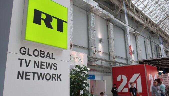 Krievijas ietekmīgākie propagandas kanāli Rietumos ir 'RT' un 'Sputnik', secina SAB