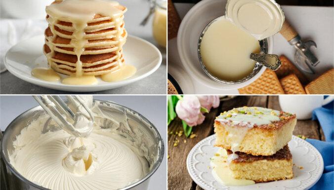 Iebiezinātā piena kūkas, krēmi un citi kārumi: ērts recepšu špikeris no A līdz Z