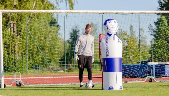 Foto: Latvijas futbolisti sāk gatavoties Baltijas kausam un superspēlei pret Vāciju