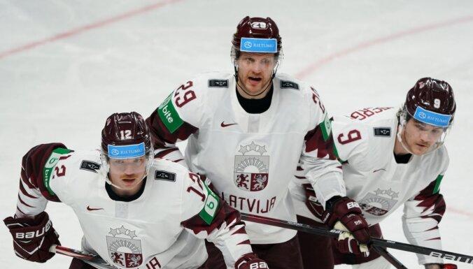Названы три лучших игрока сборной Латвии на рижском чемпионате мира