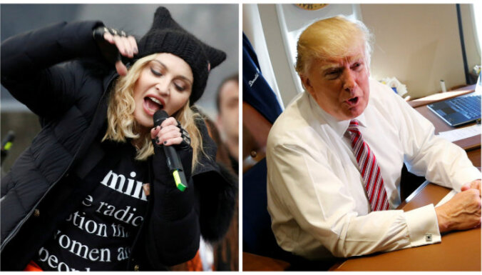 Donalds Tramps nosauc Madonnu par pretīgu